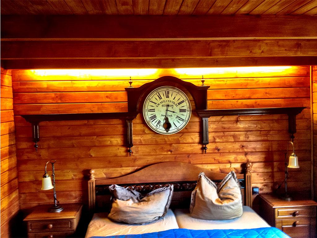 Hier schläft man gemütlich: Schlafzimmer in MQ Ranch Ferienhaus