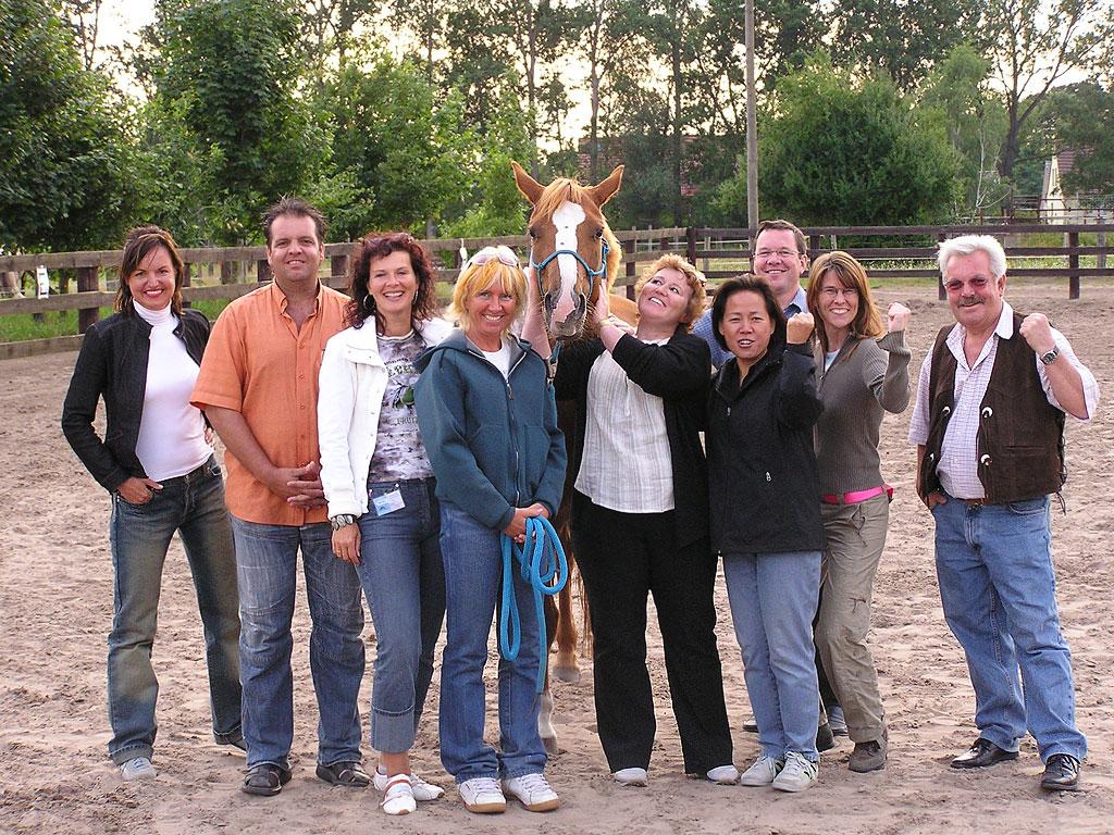 Seit 2008 finden erfolgreiche Trainings und Seminare mit Pferden auf der MQ Ranch statt