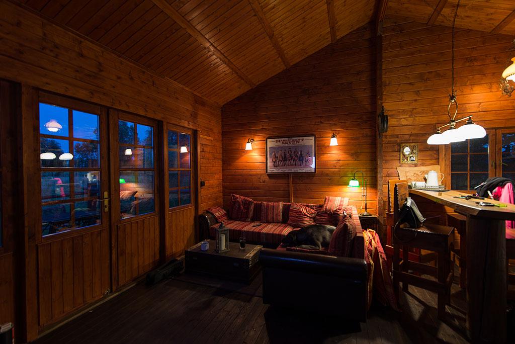 im Wohnzimmer im Blockhaus /Ferienhaus