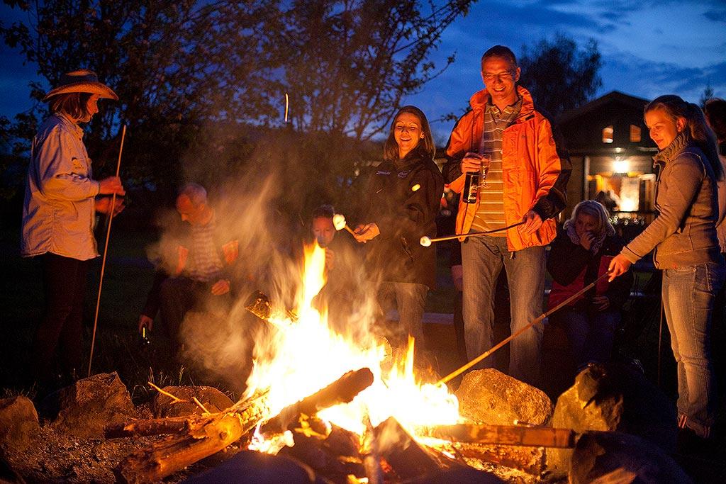 Lagerfeuerromantik auf der MQ Ranch