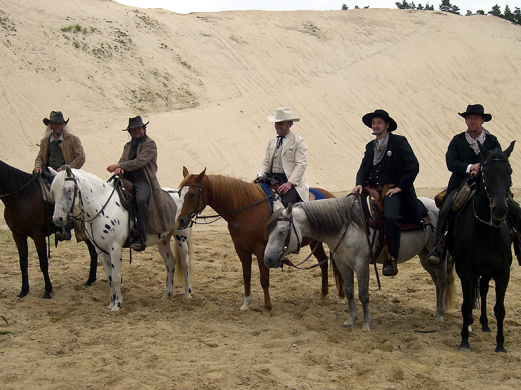 MQ Ranch Pferde und Reiter im Einsatz bei Filmarbeiten