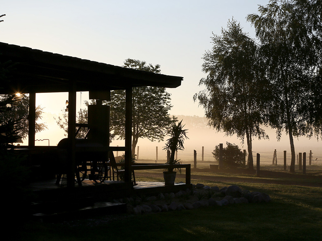 Morgennebel auf der MQ Ranch